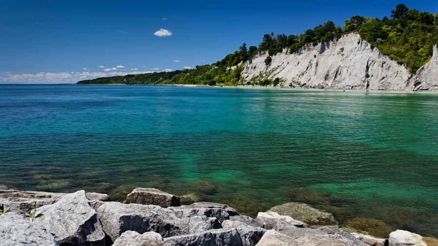 Scarborough bluffs, Ontario