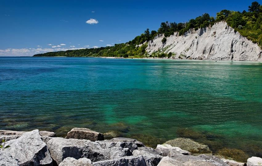 Waterfront view at Scarborough Bluffs