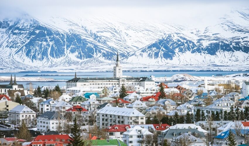 Breathtaking Reykjavik, the capital city of Iceland.