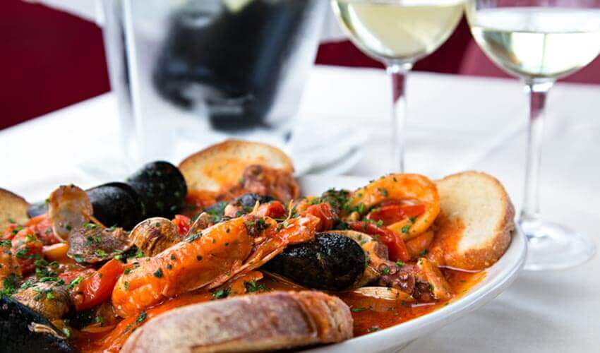 A classic seafood dish popular in Venice.