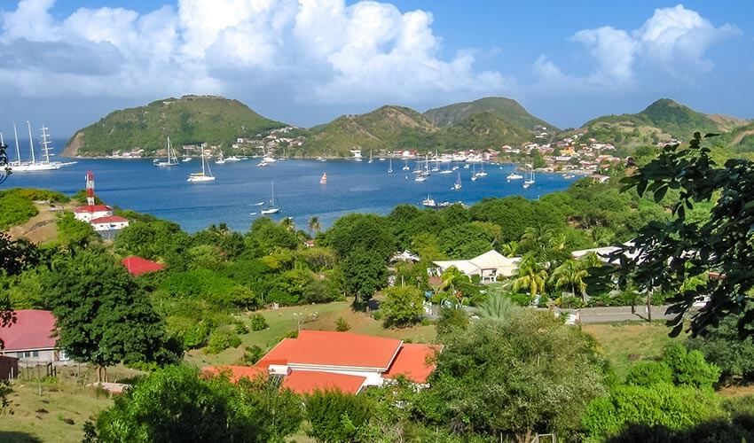 Dock and Town at Illes Des Saintes, Guadeloupe