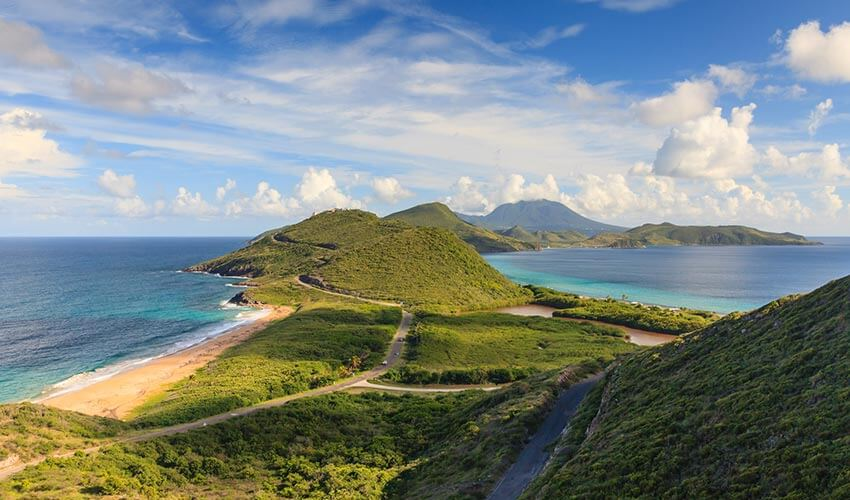 Panorama of St. Kitts and Nevis