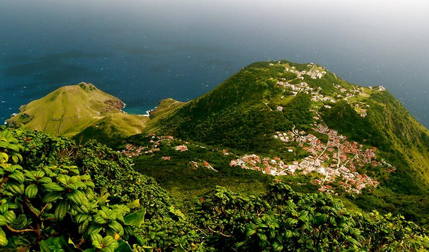 The view of Saba from the top