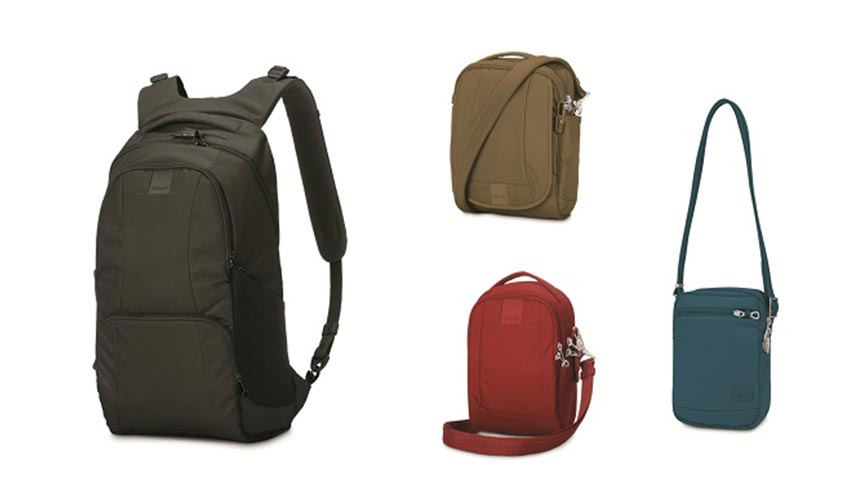 A variety of bags for travel.