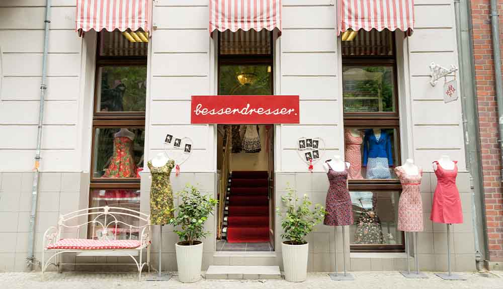 The exterior of a women's clothing store in Prenzlauer Berg, Berlin