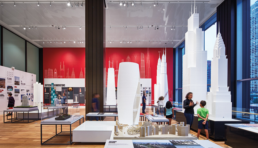 Interactive skyscraper models at the Chicago Architecture Center