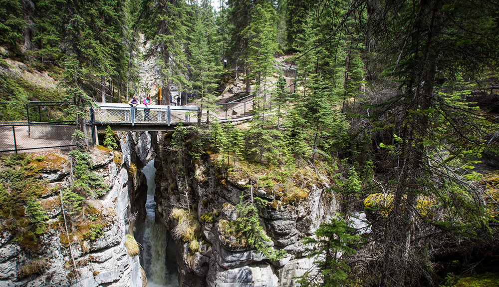 Hiking in Maligne Canyon