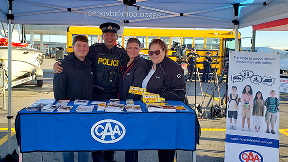 CAA's annual participation in the OPP's Labour Day Weekend media event, promoting back-to-school safety.