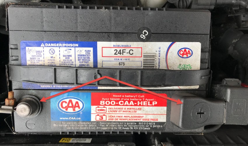 CAA car battery.