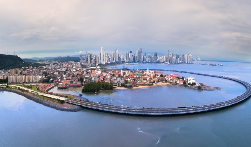 Panama city new and old town bypass.