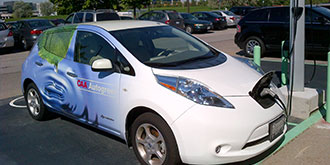 A CAA Autogreen electric vehicle