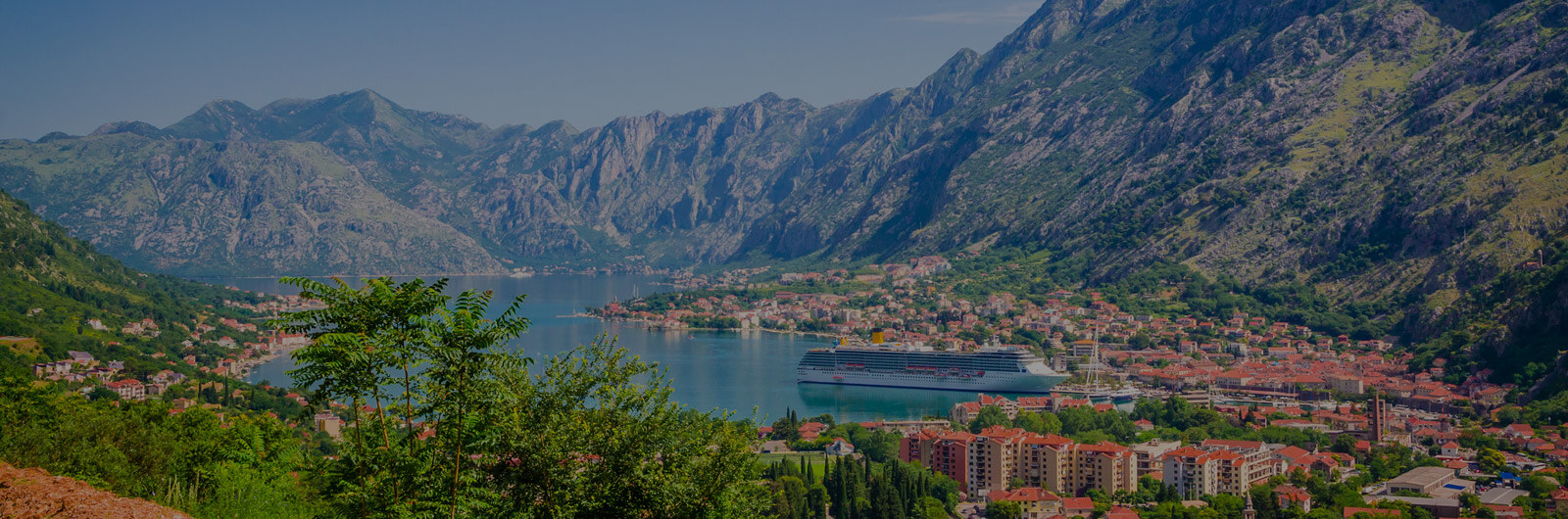 Panoramic view of Kotor Bay