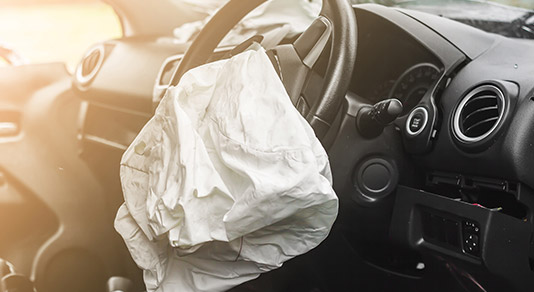 Airbag after car accident