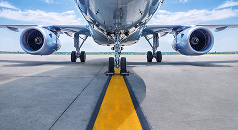 Airplane on the tarmac.