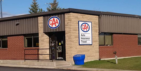Exterior of the CAA Belleville store