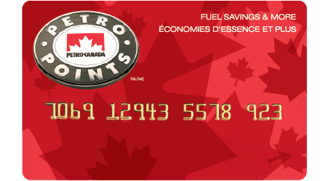 A red Petro-Points card.