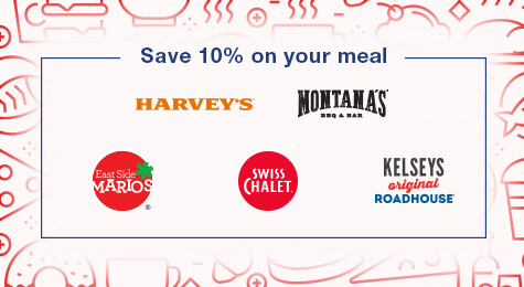 Use your CAA Card to save 10% on your meal at family restaurants