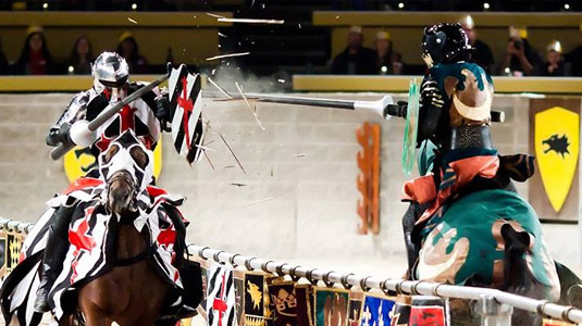Knights fighting at the Medieval Times
