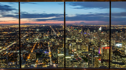 Night view from the CN Tower