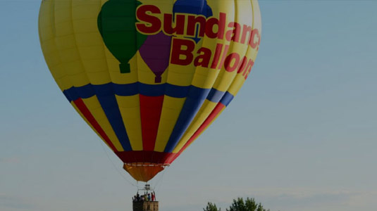 Sundance balloons in the sky