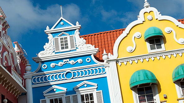 Colourful architecture in Aruba