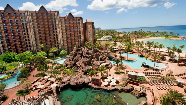 Exterior of the Aulani resort