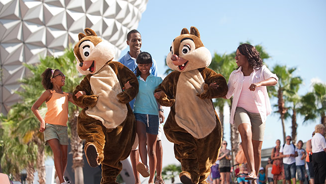 Chip and Dale at Epcot