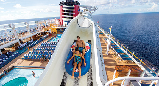 Water slide on a Disney cruise