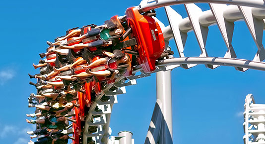 Rollercoaster ride at Canada's Wonderland