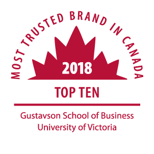 Most Trusted Brand in Canada - 2018 Top Ten | Gustavson School of Business