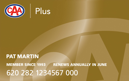 Gold CAA Plus Membership card