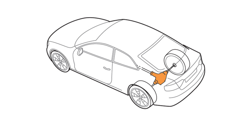 Illustration of all-wheel drive