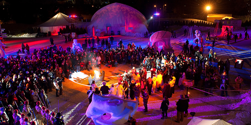 Scene from the Festival du Voyageur in Winnipeg