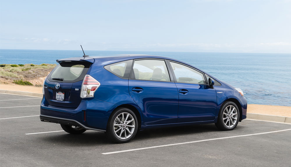 The 2016 Prius V In A Parking Lot Facing Away