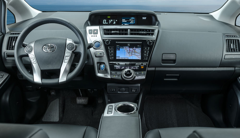 The Inside Dashboard Of 2016 Prius V