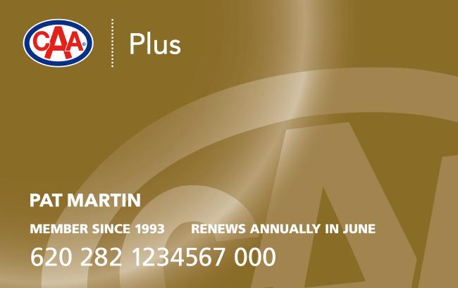 Gold CAA Plus Membership card.