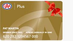 Plus Gift Membership card